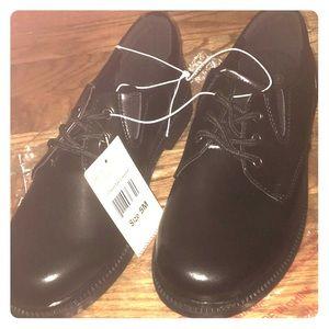 Boys black dress shoes size youth 5